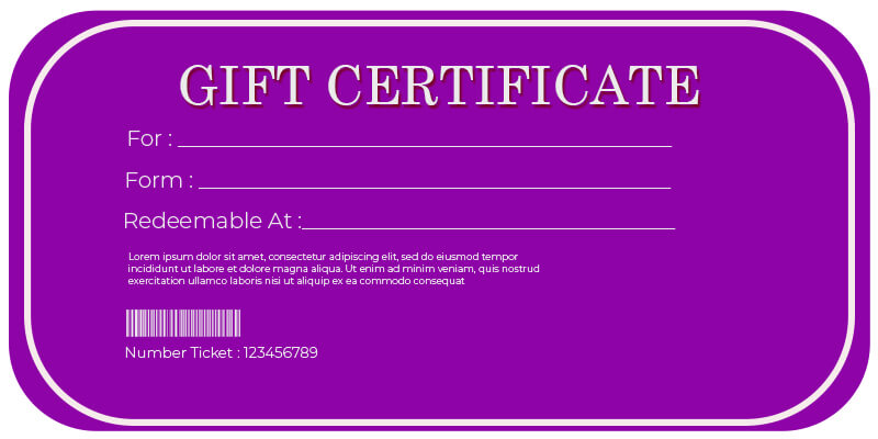 Gift Certificate templates in photoshop