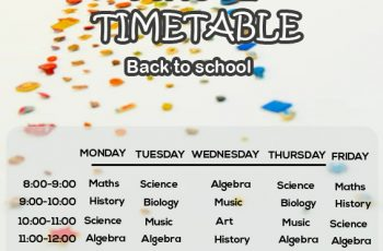 class Schedule in photoshop