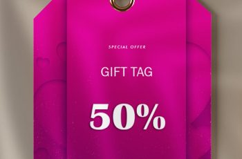 gift tag in psd design