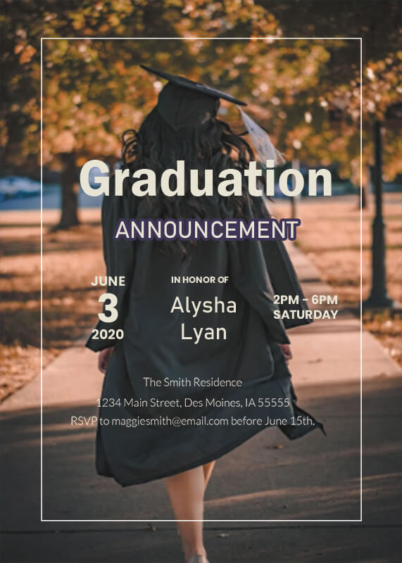 graduation announcement customizable psd design templates