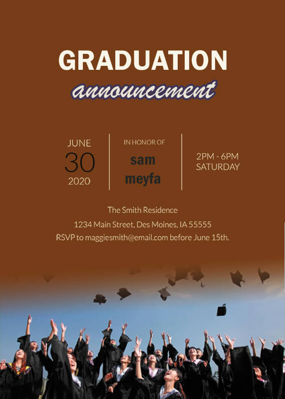 graduation announcement templates psd