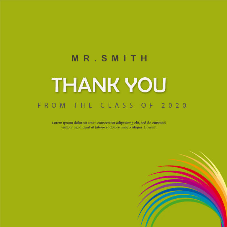 thank card in psd design