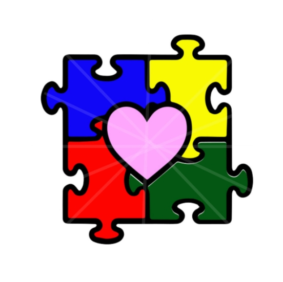 Autism Puzzle Piece Template example design