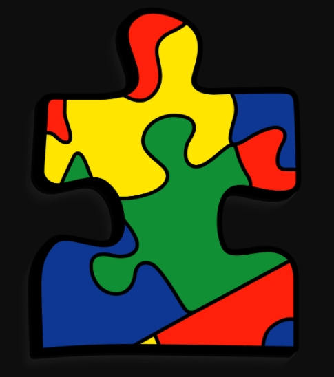 Autism Puzzle Piece Template free download