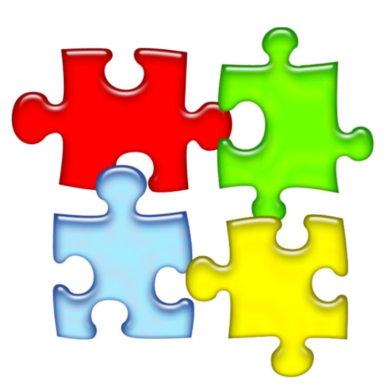 Autism Puzzle Piece Template in design