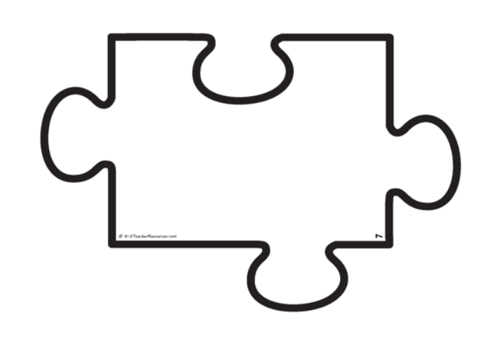 Autism Puzzle Piece Template in free download