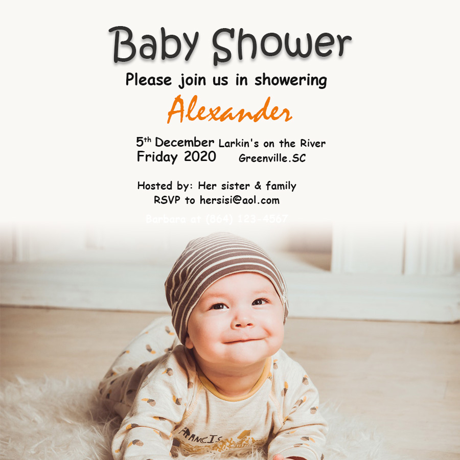 Baby Invitation in psd design