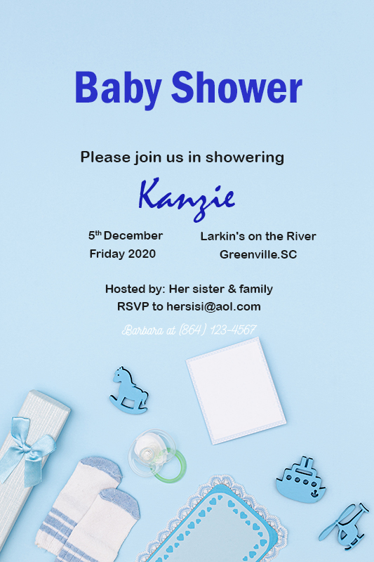 Baby Invitation psd templates