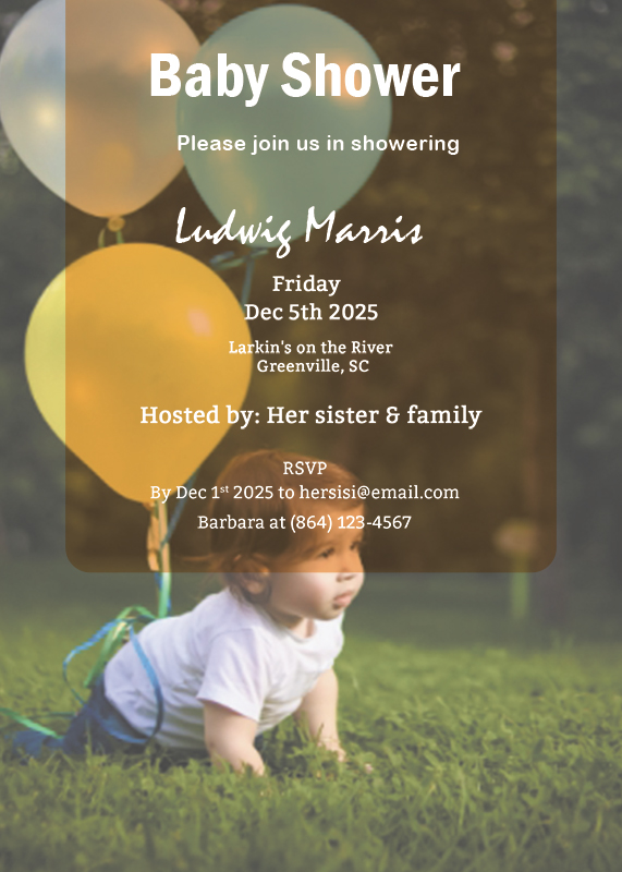 Baby Invitation templates for photoshop