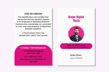 ID Card in psd design