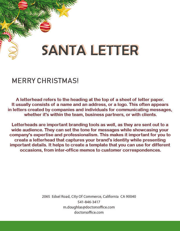 Santa Letter in photoshop