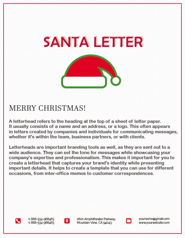 Santa Letter templates for photoshop