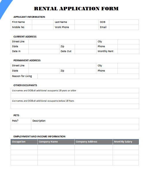 application form template in word
