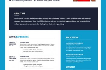 athletic resume template in photoshop free download