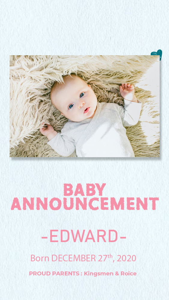 baby announcement template free psd template
