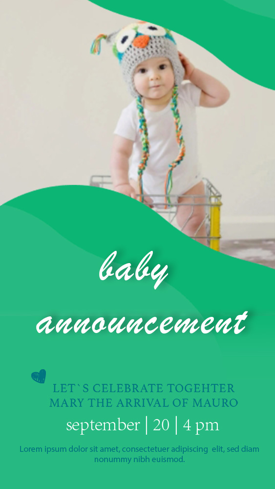 baby announcement template in photoshop