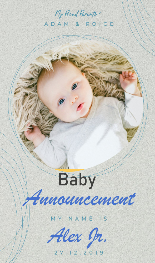 baby announcement template psd template free