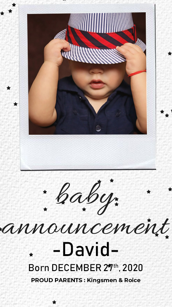 baby announcement template template free psd
