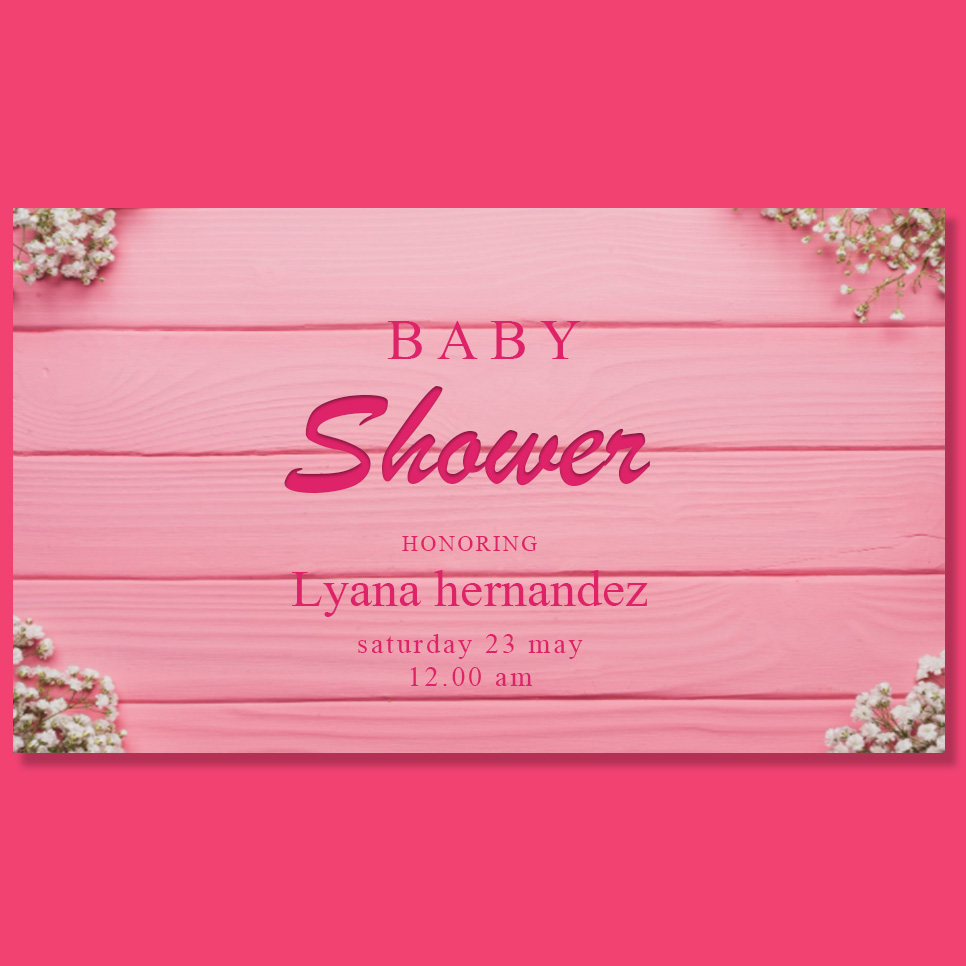baby shower card template free download psd