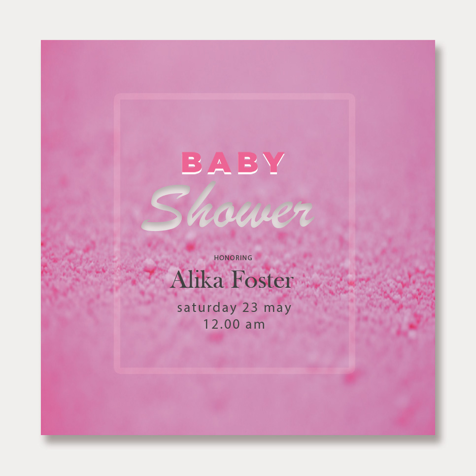 baby shower card template psd template free