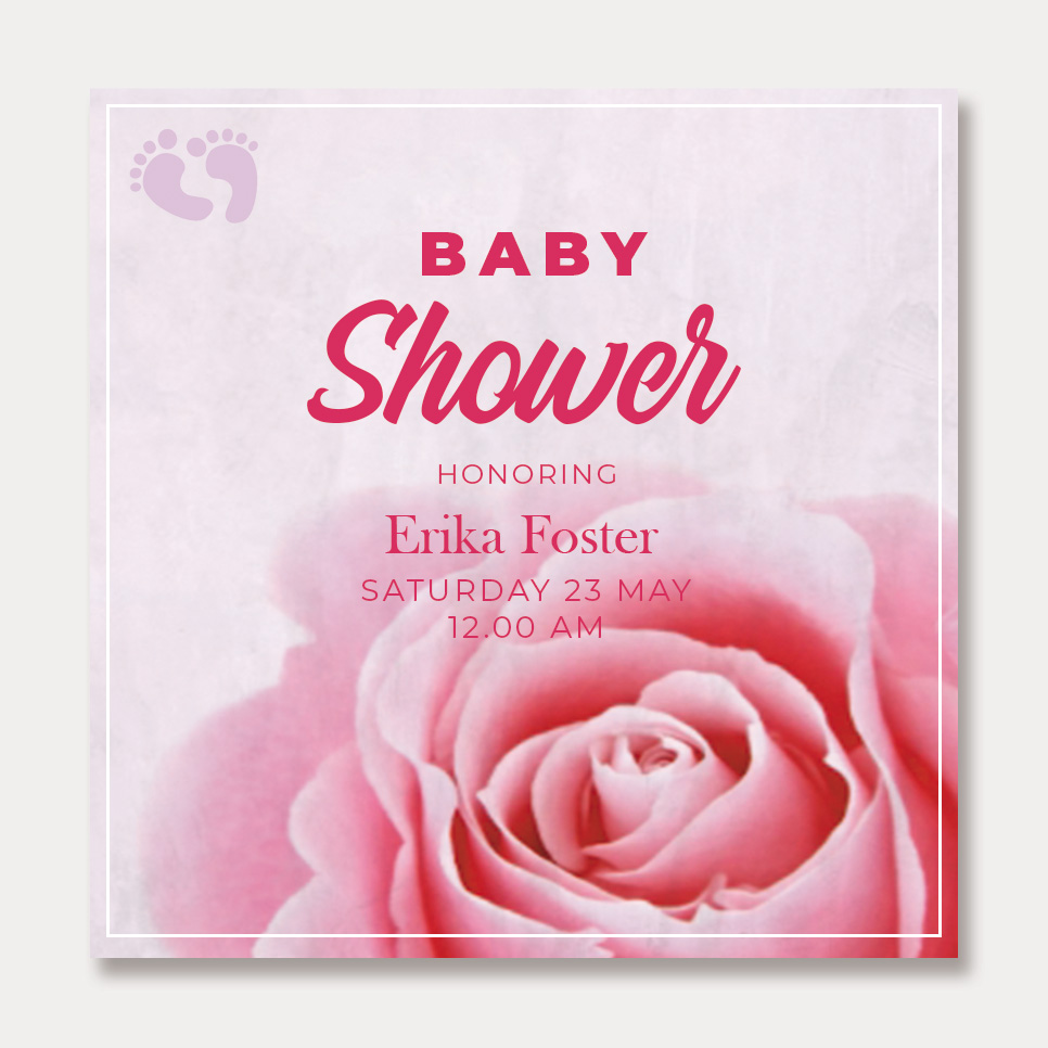 baby shower card template template for photoshop