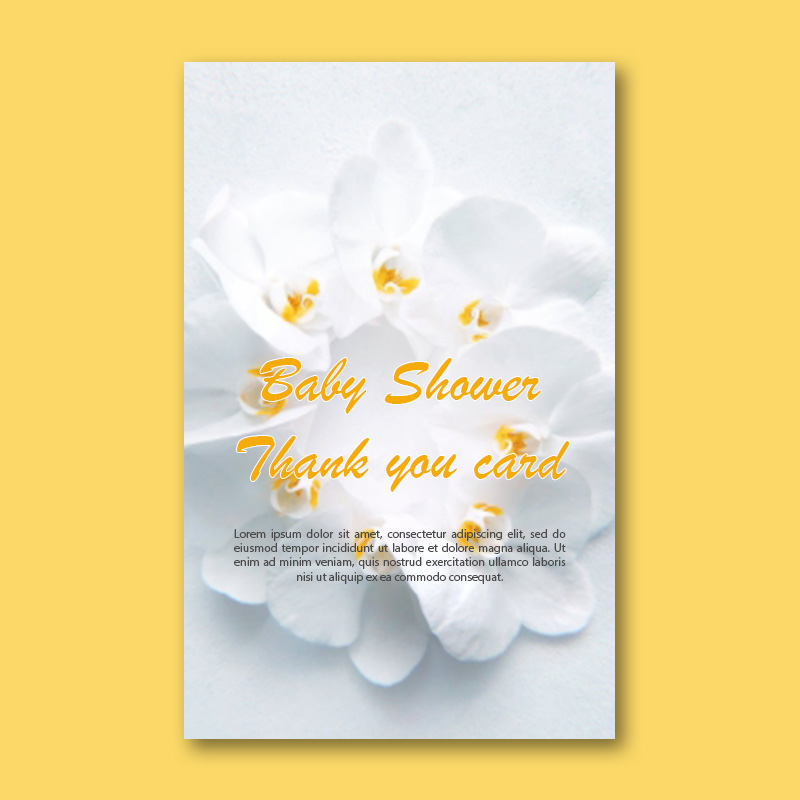 baby shower thank you card template customizable psd design template