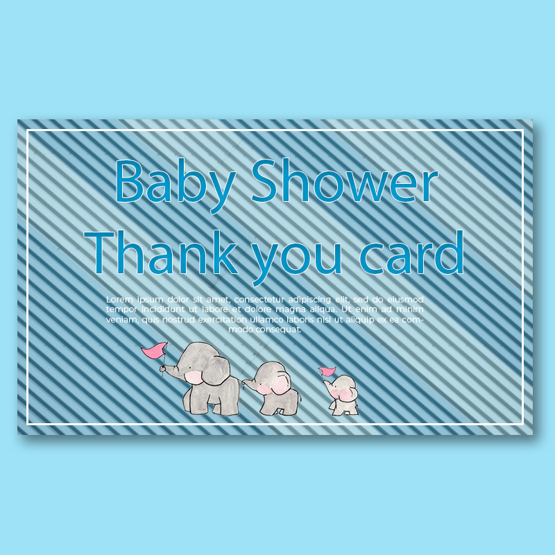baby shower thank you card template example psd design