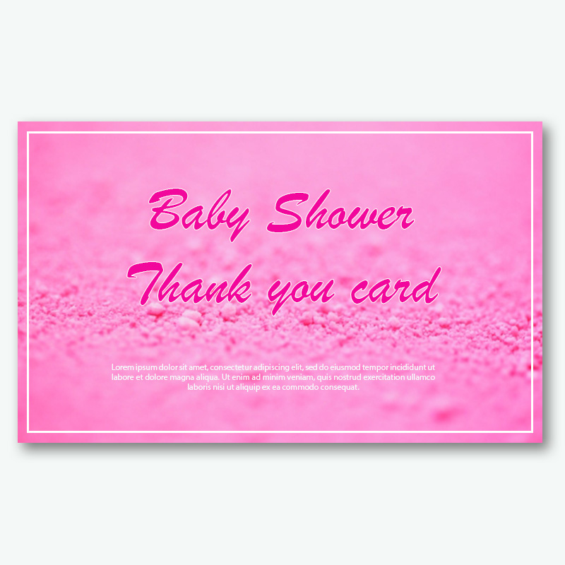 baby shower thank you card template free download psd