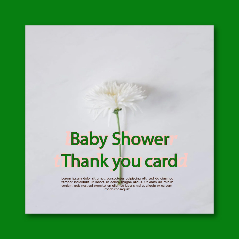 baby shower thank you card template free psd template