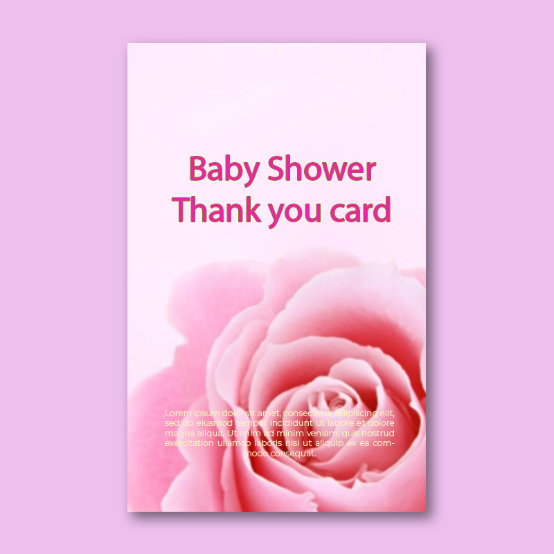 baby shower thank you card template in photoshop free download