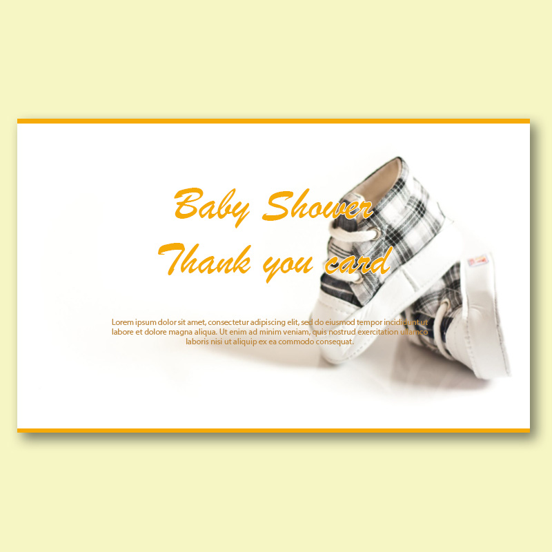 baby shower thank you card template in photoshop