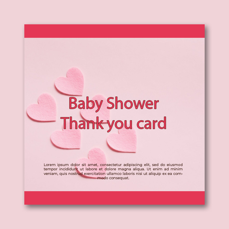 baby shower thank you card template template for photoshop