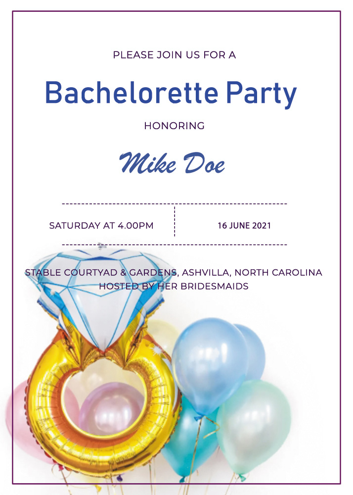bachelorette party invitation template free download psd