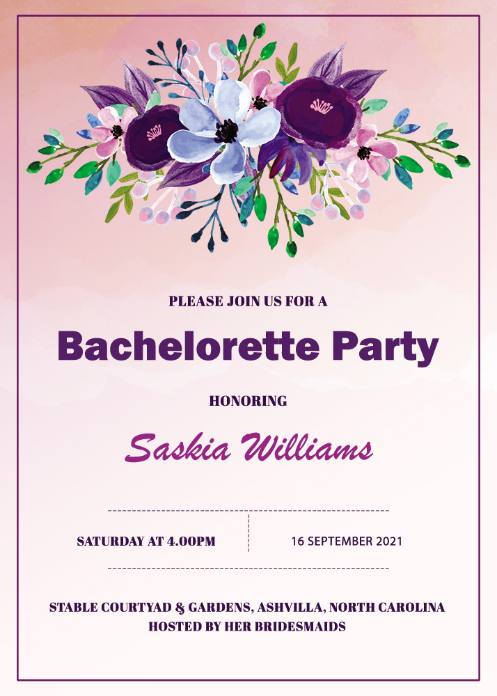 bachelorette party invitation template psd template free