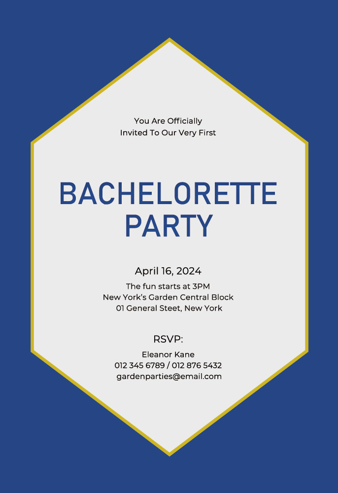 bachelorette party invitation template template free psd
