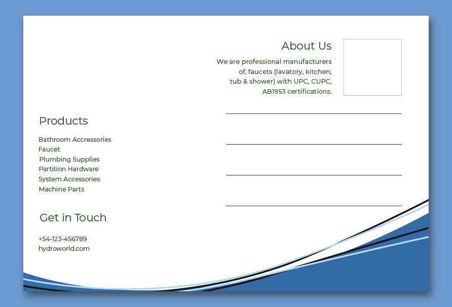 back of postcard template customizable psd design template
