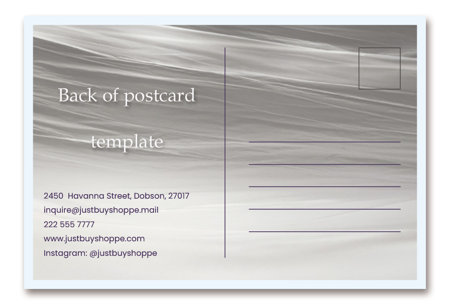 back of postcard template example psd design