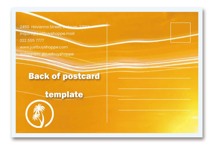 back of postcard template free download psd
