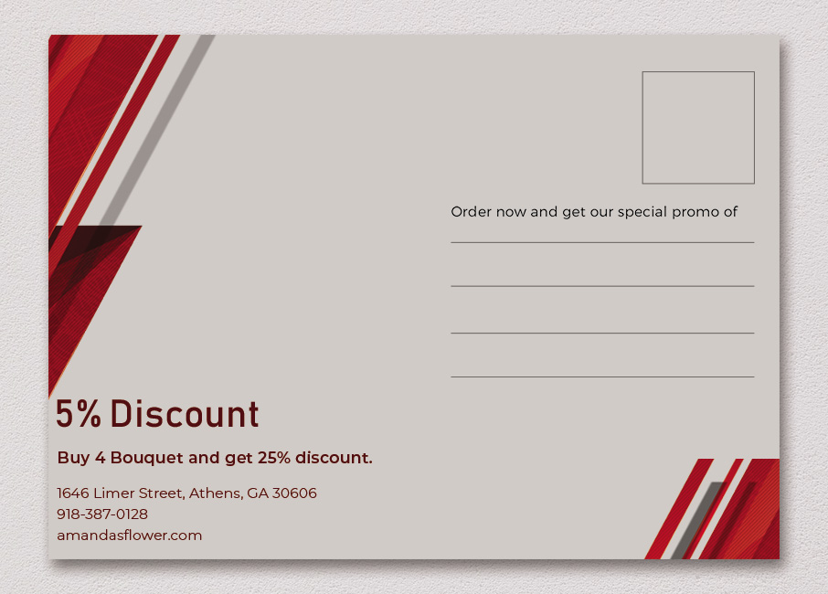 back of postcard template free psd template