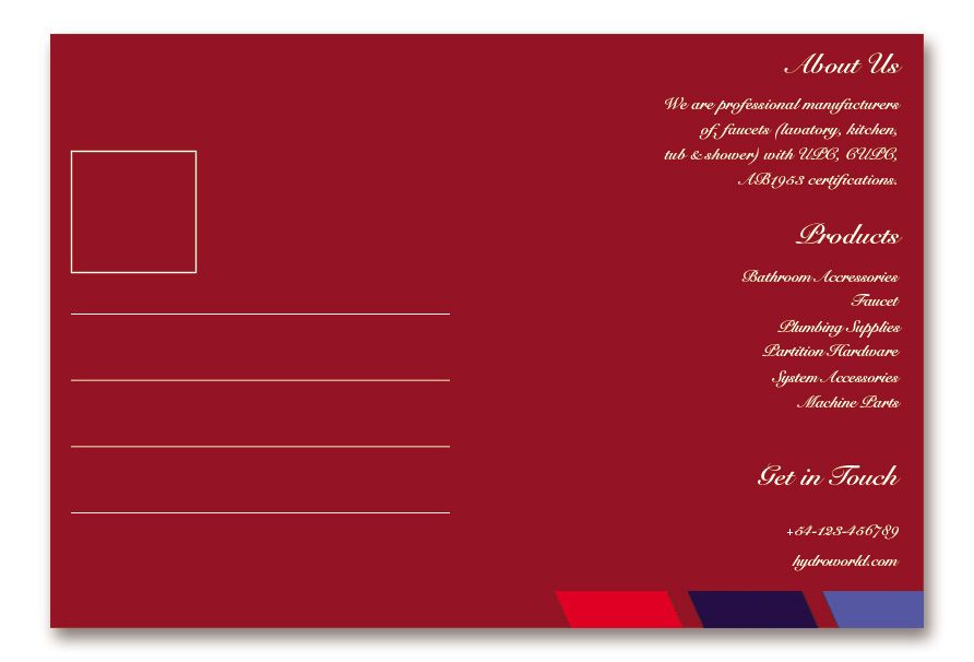 back of postcard template in photoshop free download