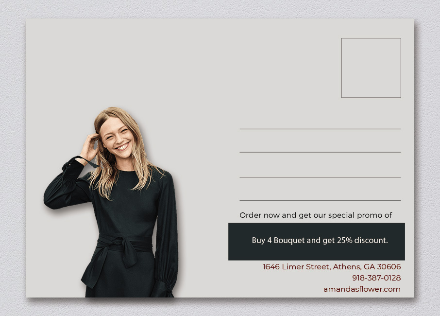 back of postcard template template for photoshop