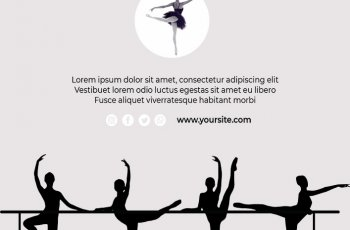 ballerina template in photoshop free download