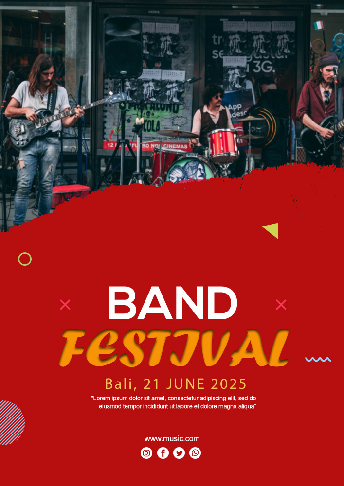 band flyer template customizable design template