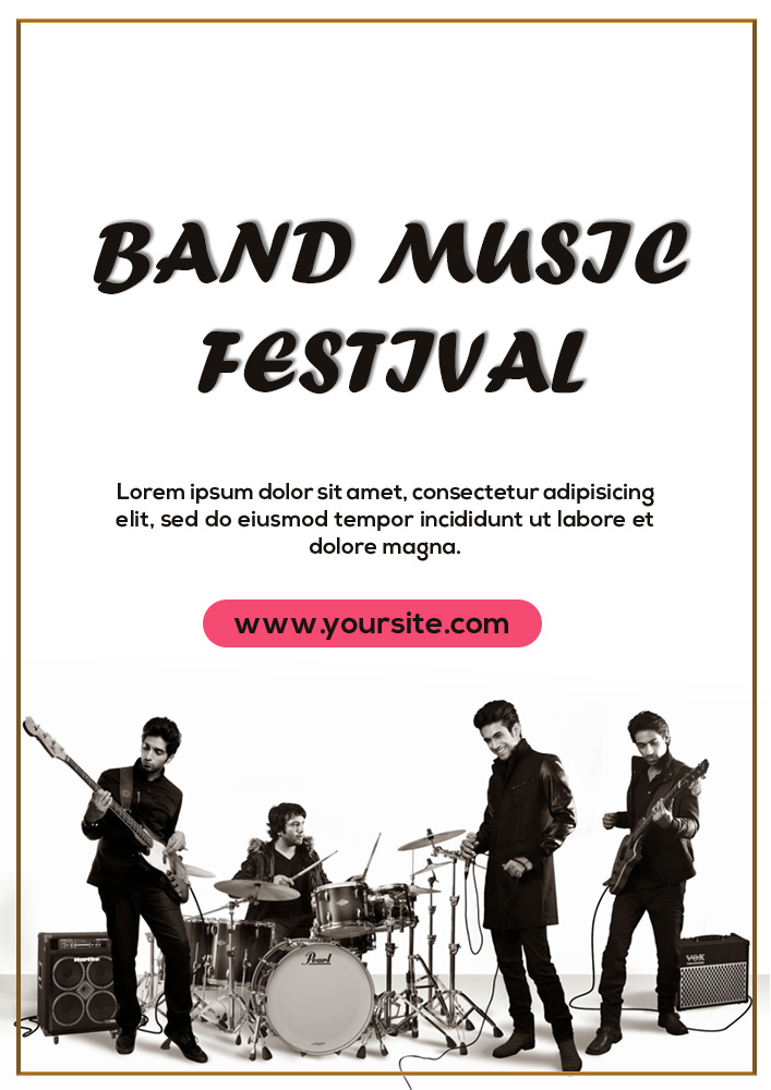 band flyer template free template