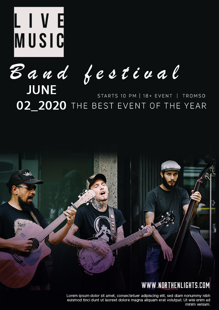 band flyer template free templates