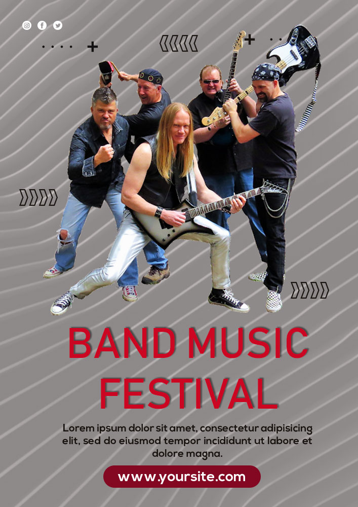 band flyer template in design