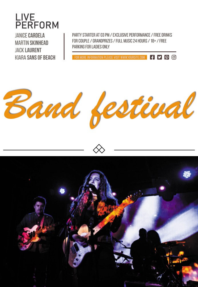 band flyer template in free download