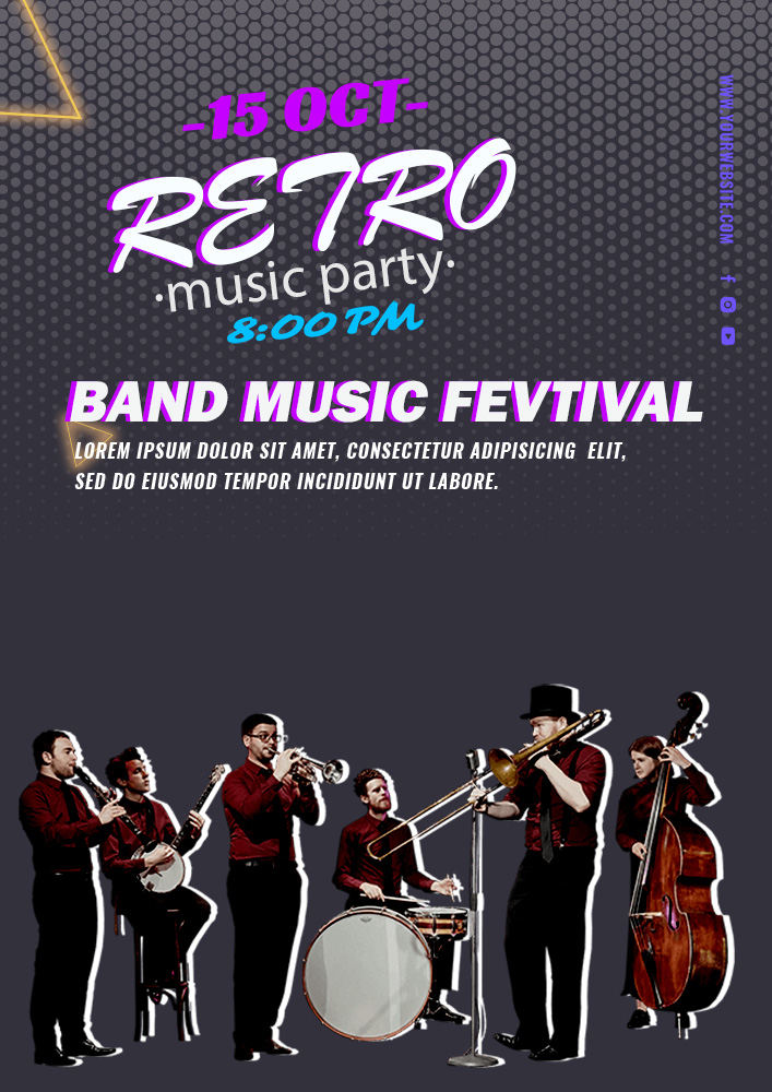 band flyer template template