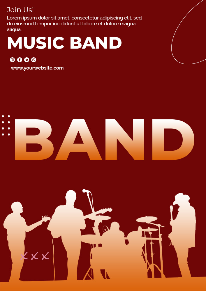 band poster template example psd design