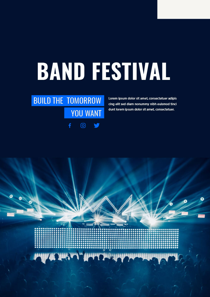 band poster template in photoshop